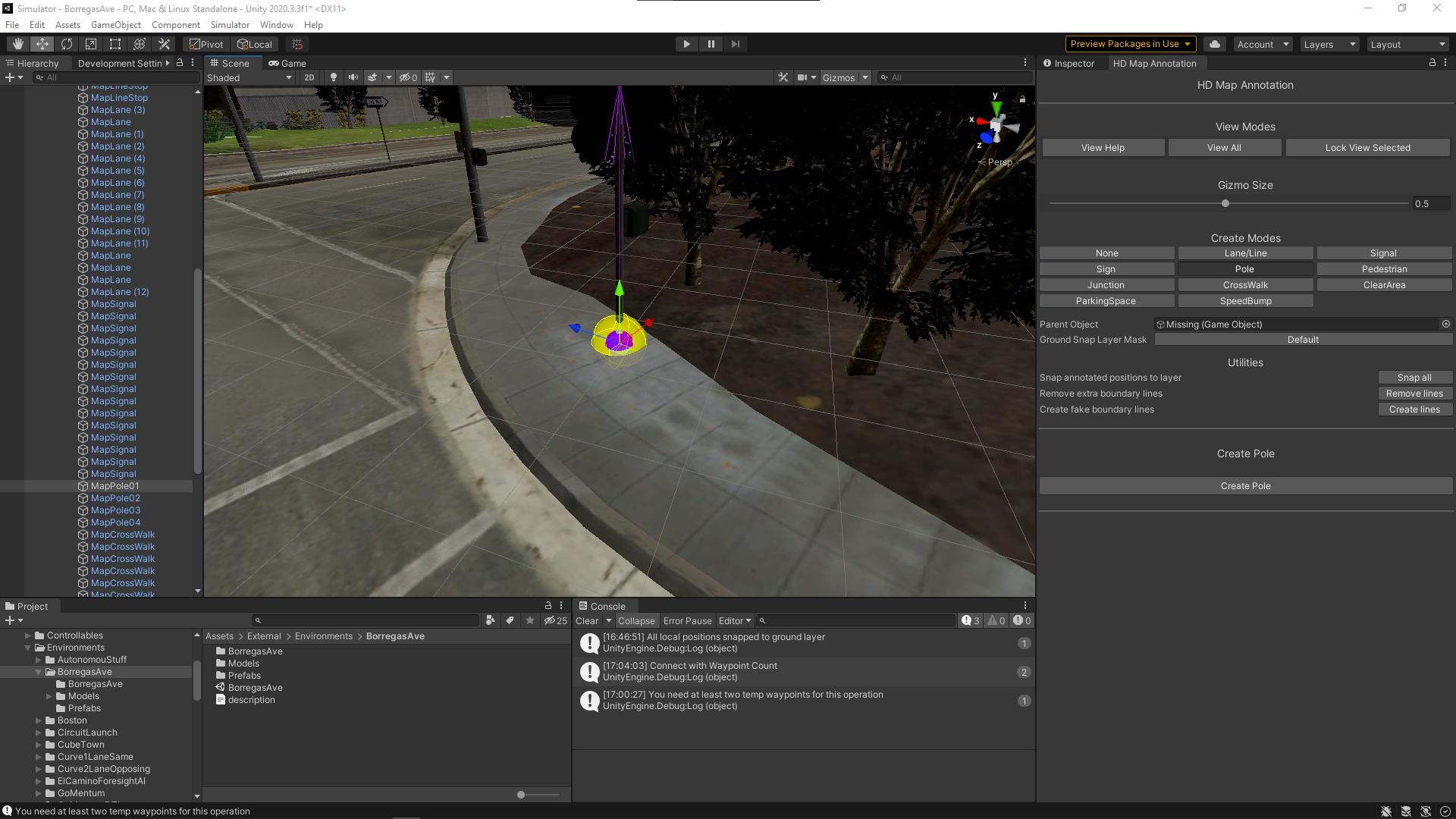 Map Annotation - LGSVL Simulator