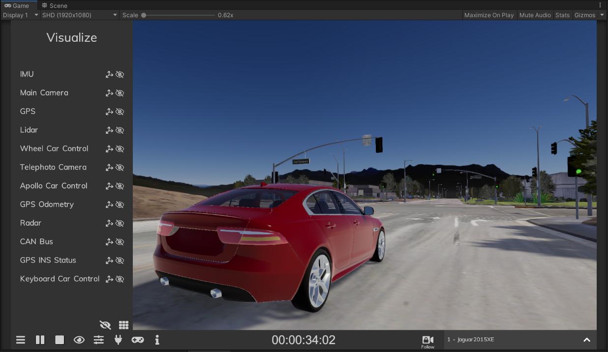 Sensor Visualization Lgsvl Simulator